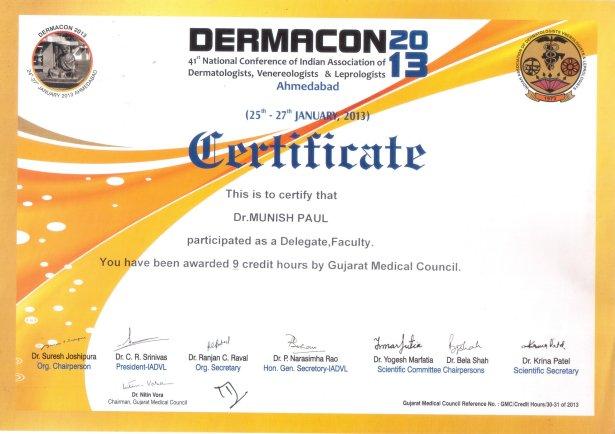 Dermacon-Certificate